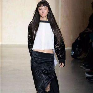 DKNY Runway -Black & White Velvet Lace